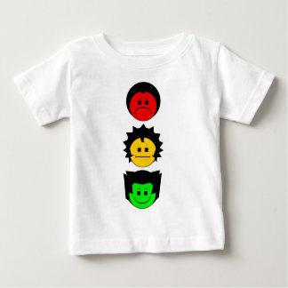 Moody ansikten för StoplightTriolodrät Tee Shirts