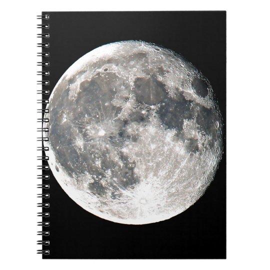 Moon Anteckningsbok Med Spiral