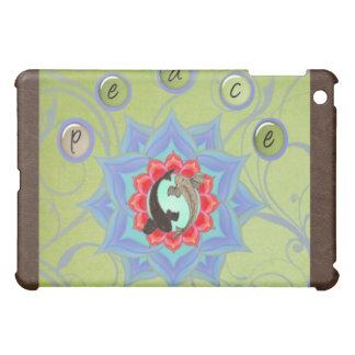 .:: MoonDreams::. Mandala för Koi lotusblommabrunt iPad Mini Mobil Skydd