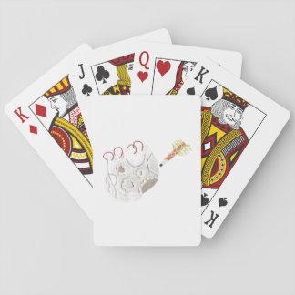 Moonpad och skrivar leka kort spelkort