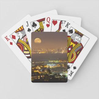 Moonrise över den San Diego horisonten Casinokort
