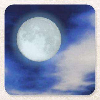 Moonscape med månbelysta moln underlägg papper kvadrat