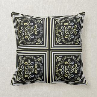 Moorishblommigten belägger med tegel dekorativ kudde