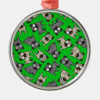 Mops-en-Pricka (grönt) Julgransprydnad Metall