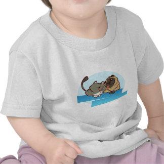 Mops för katt n t-shirts