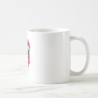 mops i dräkt kaffemugg