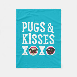 Mops & ullfilt för kyssar XOXO Fleecefilt