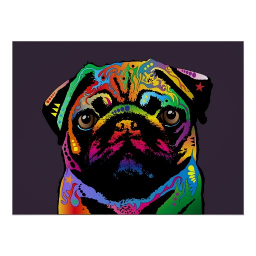 Mopshund Print