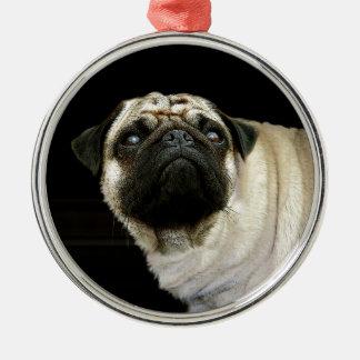 Mopshunden & spillde muggdjurälskareprydnaden julgransprydnad metall