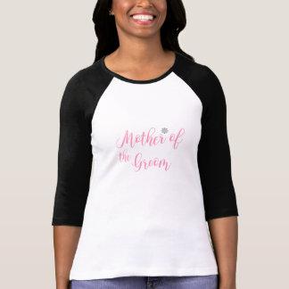 Mor av brudgummen, möhippa som gifta sig rosor t shirts