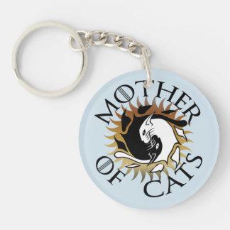 Mor av katter Keychain