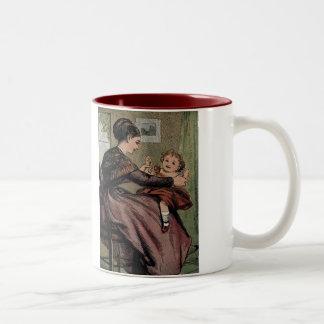 Mor & barnmor och dotter Två-Tonad mugg