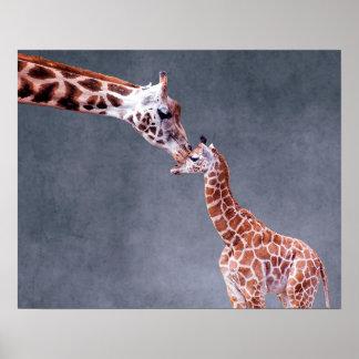 Mor för Getty bilder | & babygiraff Poster