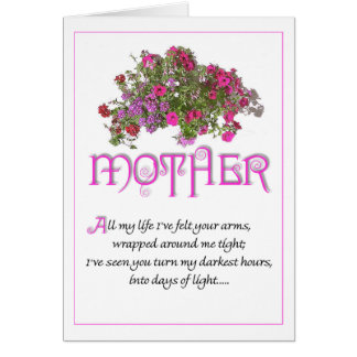 Mor för mors dag… allt mitt liv… hälsningskort