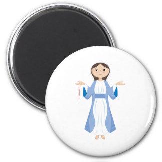 Mor Mary med radbandet Magnet