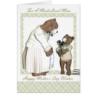 Mor mors dag, mycket älskad mamma hälsningskort