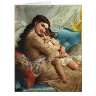 Mor och barn 1885 jumbo kort