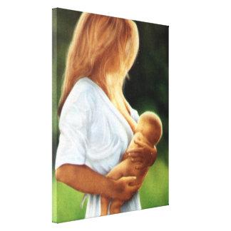 Mor och barn canvastryck