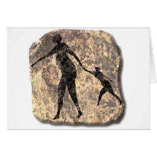 Mor och barn-sten hälsningskort