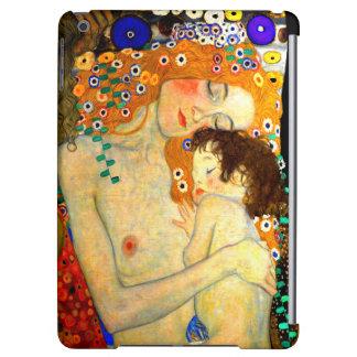 Mor och barn vid den Gustav Klimt art nouveau