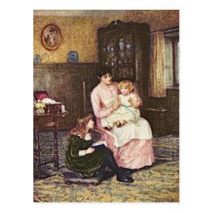 Mor som leker med barn i en insida vykort 6c56e70913e4f