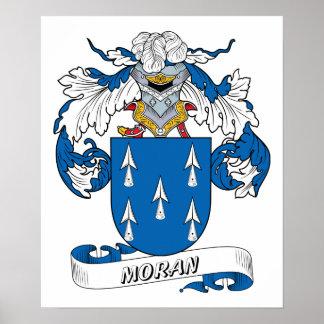 Moran familjvapensköld poster