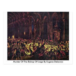 Mord av biskopen av Liege av Eugene Delacroix Vykort