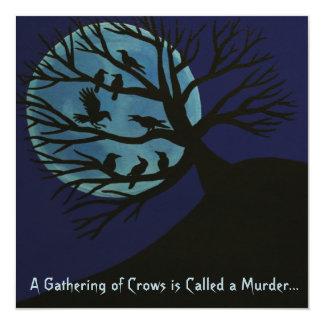 Mord av den kråkaHalloween inbjudan