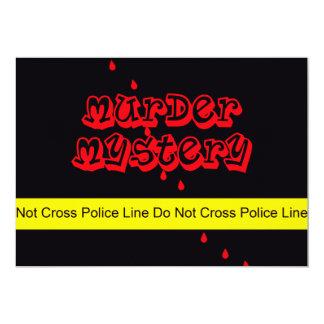 Mord för portion för inbjudan för mordgåtaparty