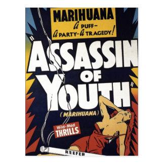 """""""Mördare av ungdom"""" vykort"""