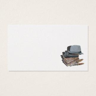 Mordgåta bokar vapenknivarfedoraen visitkort