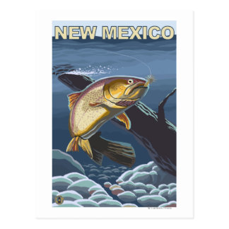 Mordisk forell FishingNew Mexico Vykort