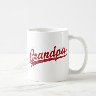 Morfar i rött kaffemugg