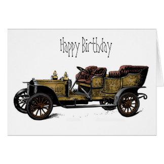 Morfar kort för bilgrattis på födelsedagen