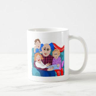 Morfar och barnbarn kaffemugg