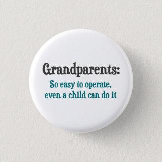 Morföräldrar som så är lätta att fungera mini knapp rund 3.2 cm