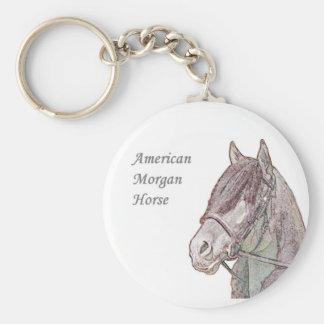 Morgan hästnyckelring rund nyckelring