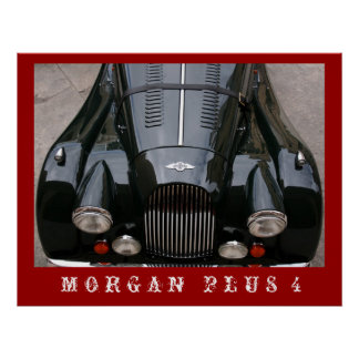 Morgan plus 4 - klassikerbil poster