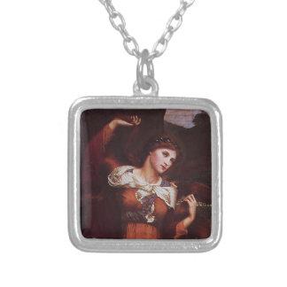 Morgana le Fay (Morgan Pendragon) Silverpläterat Halsband