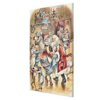 Morgåsdans med jultomten canvastryck