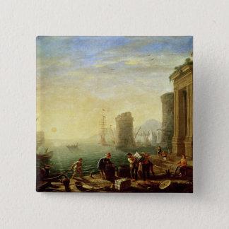 Morgon på porten, 1640 (olja på kanfas) standard kanpp fyrkantig 5.1 cm