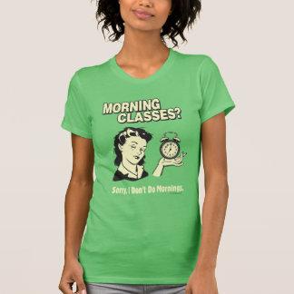 Morgonen klassificerar: Jag gör inte morgnar Tee Shirt