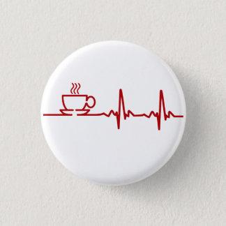 Morgonkaffehjärtslag EKG Mini Knapp Rund 3.2 Cm