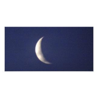 Morgonmåne Fotokort