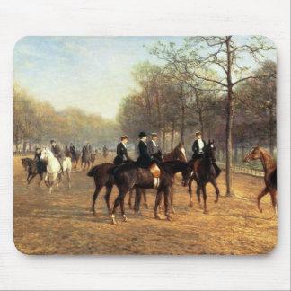 Morgonritten som är rutten ror, Hyde parken, 1894  Musmatta