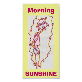 Morgonsolskentryck Poster
