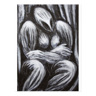 Morgudinna (svartvit surrealism) vykort