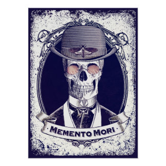 Mori för vintageskalleMemento affisch