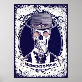 Mori för vintageskalleMemento affisch Poster