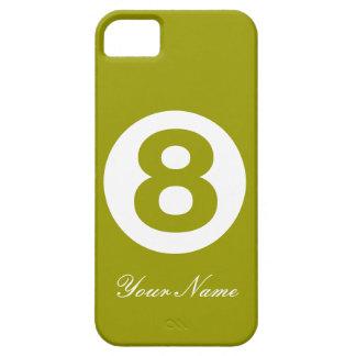 Mörk avokadogrönt numrerar fodral åtta iPhone 5 Case-Mate fodral